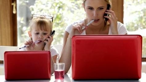 ejemplo de los padres a los hijos